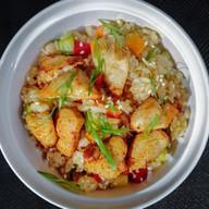Рис чесночный с курицей Фото