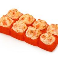 Запечённый сырный с тигровой креветкой Фото