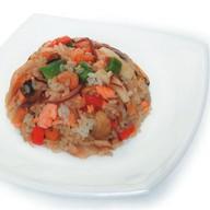 Морепродукты с рисом Фото