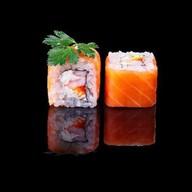 Дзен ролл с лососем и креветкой Фото