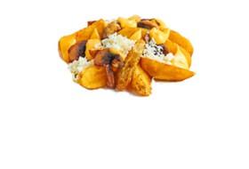 Картофельные дольки с грибами,моцареллой - Фото