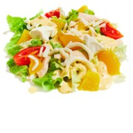 Салат с кальмаром и манго Фото