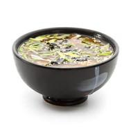Мисо суп с филе лосося и водорослями Фото