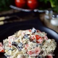 Мясной салат с баклажанами Фото