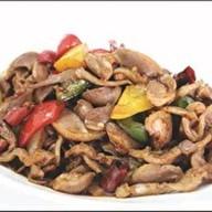Куриные желудки с болгарским перцем Фото