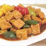 Обжаренное Тофу с болгарским перцем Фото