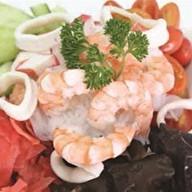 Морепродукты с грибами и овощамм Фото