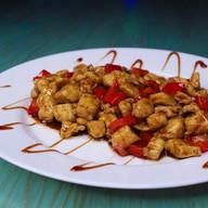 Куриное филе с овощами в соусе терияки Фото