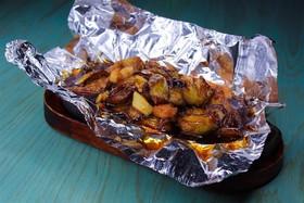 Баклажаны с семгой и креветками - Фото