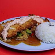 Рис с курицей в сухарях Фото