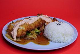 Рис с курицей в сухарях - Фото
