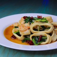 Морепродукты в соусе (острые) Фото