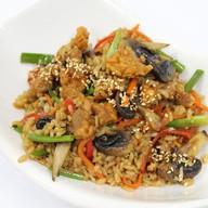 Рис со свининой и грибами Фото