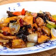 Тофу жаренный с овощами Фото