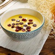 Крем-суп из тыквы с колбасками Фото