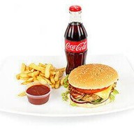 Фирменный бургер + Кока-Кола Фото
