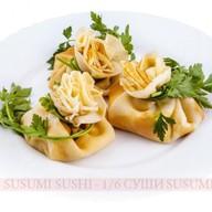 Блинчики со сливочным сыром и сем Фото