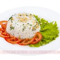 Рис отварной с зеленью и кедровым Фото