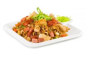 Рис с курицей и беконом - Фото