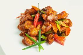 Курица в имбирно-чесночном соусе - Фото