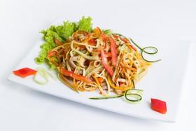 Салат с грибами еноки - Фото