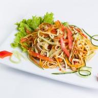 Салат с грибами еноки Фото
