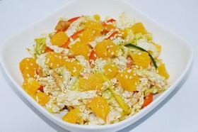 Салат Пантоуюй с курицей и апельсином - Фото