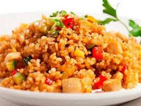 Рис со свининой и овощями - Фото