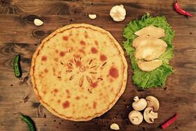 Осетинский пирог с курицей и грибами - Фото