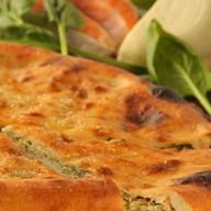Осетинский пирог с рыбой и зеленым луком Фото