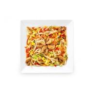 Wok лапша с овощами Фото