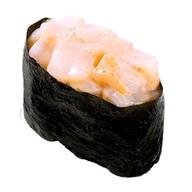Суши острые с креветкой (гункан) Фото