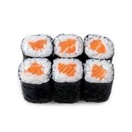 Ролл с лососем холодного копчения Фото