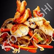 Рисовая лапша с морепродуктами Фото