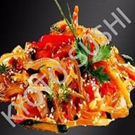 Рисовая лапша с хрустящими овощами Фото