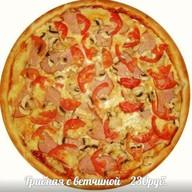Пицца Грибная с ветчиной Фото