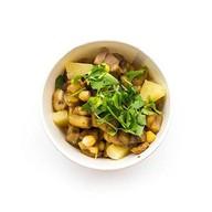 Салат с баклажаном и нутом Фото