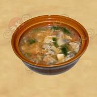 Суп со шпинатом и грибами Фото