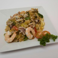 Тяхан с морепродуктами Фото