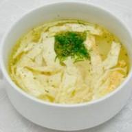 Суп куриный с омлетом Фото
