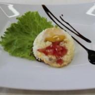 Омлет с помидорами и сыром Фото