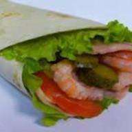 Сэндвич ролл с креветками Фото