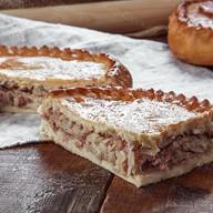 Пирог с капустой и ветчиной Фото