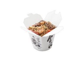 Яичная лапша с морепродуктами на терияки - Фото