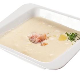 Сырный крем-суп с беконом - Фото