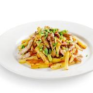 Картофель, жаренный с опятами и свининой Фото