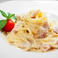 Спагетти с беконом Фото