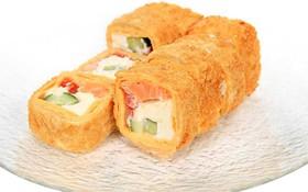 Тортилья с лососем темпура - Фото