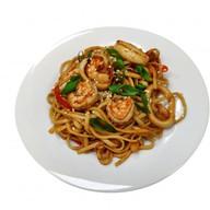 Wok с морепродуктами в устричном соусе Фото