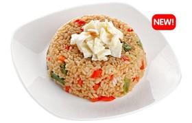Рис с овощами и яйцом - Фото